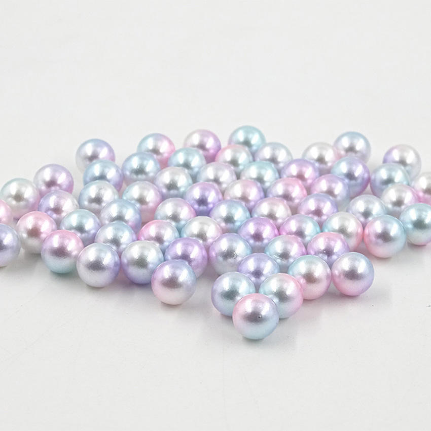 Nail Art Decoration Round Immitated Pearl Gradient False Pearls White Size Mixed 1000pcs