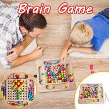 Jeu de société Montessori en bois amusant, jeu de perles arc-en-ciel pour enfants, développement de l'intelligence, jouet éducatif