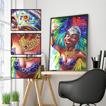 5D DIY Diamond Painting Special Shaped Beauty Flower Embroidery Sticker Rhinestone Decoration