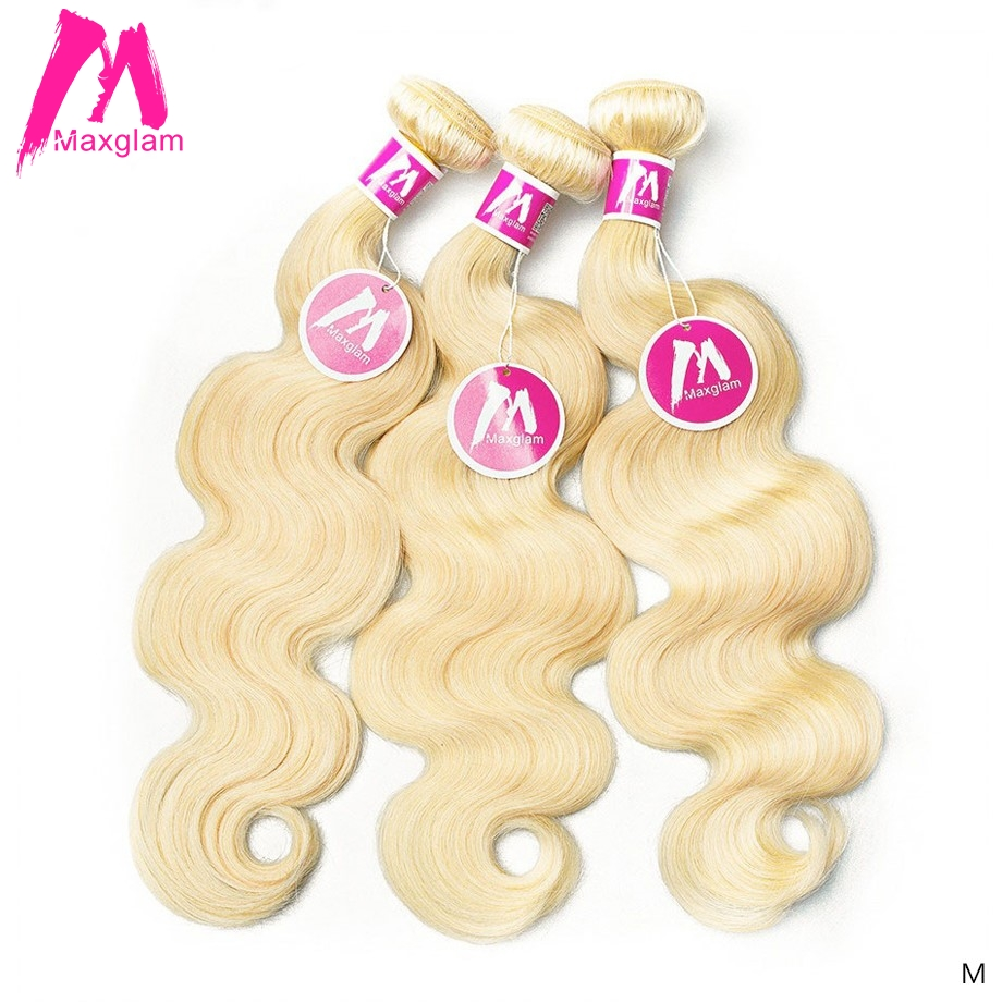 <font><b>613</b></font> Blonde Brazilian <font><b>Hair</b></font> Weave <font><b>Bundles</b></font> <font><b>Body</b></font> <font><b>Wave</b></font> 8 30 inch Short Long Remy Human <font><b>Hair</b></font> Extension For Black Women 1 <font><b>3</b></font> 4 <font><b>Bundles</b></font> image