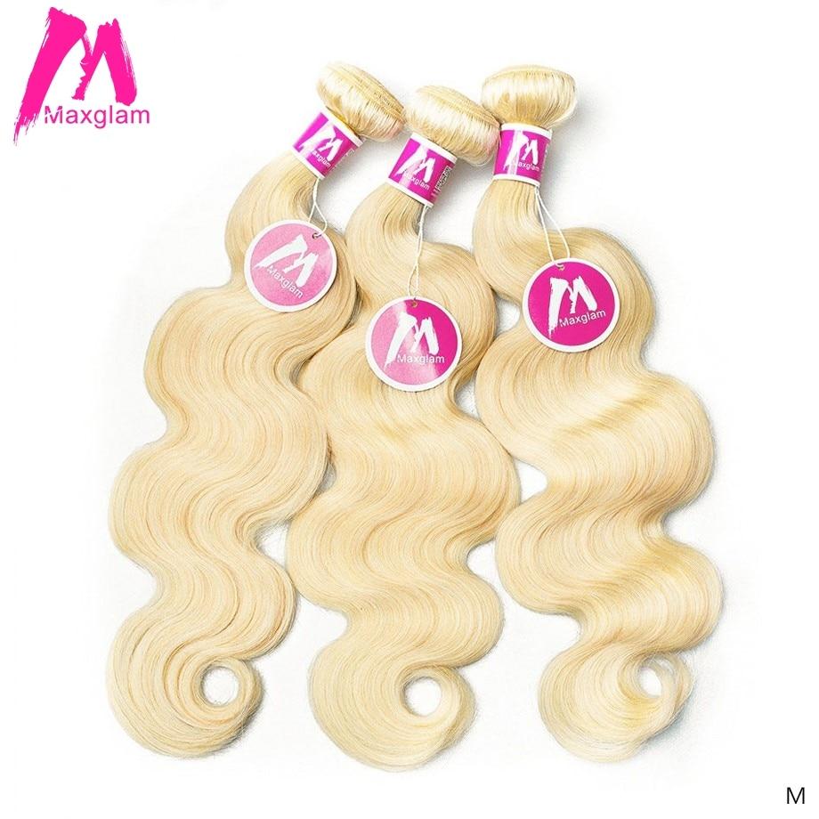 Tissage en lot Body Wave brésilien naturel Remy court et Long   Blond 613, 8 30 pouces, Extension capillaire pour femmes, lots de 1 3 4