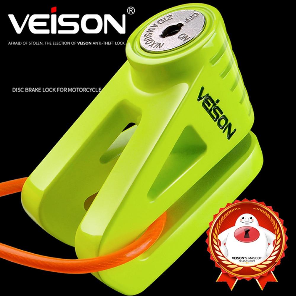 VEISON Stainless Steel Motorcycle Lock Bicycle Theft Pretection Brake Moto Motorbike Lock Waterproof Bike Lock