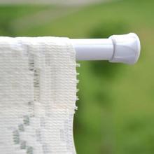 Регулируемые 60-110 см круглые подвесные стержни для занавесок/шкафов вуаль выдвижные палочки Бытовая телескопическая нагруженная вешалка