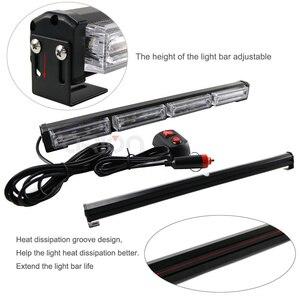 Image 3 - Barra de luz LED estroboscópica para coche y camión, 16 luces LED de emergencia de 48W de alta potencia, intermitente, lámpara de advertencia, ámbar, rojo, azul, verde, 12V, 24V