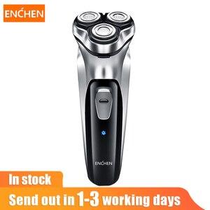 Image 1 - Enchen uomo rasoio elettrico type c USB ricaricabile rasoio 3 lame portatile tagliabordi per basette