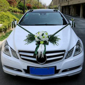 Image 4 - A set wedding car decor simulation roses artificail flowers Valentines Day wreath diy party wedding decoration party supplies