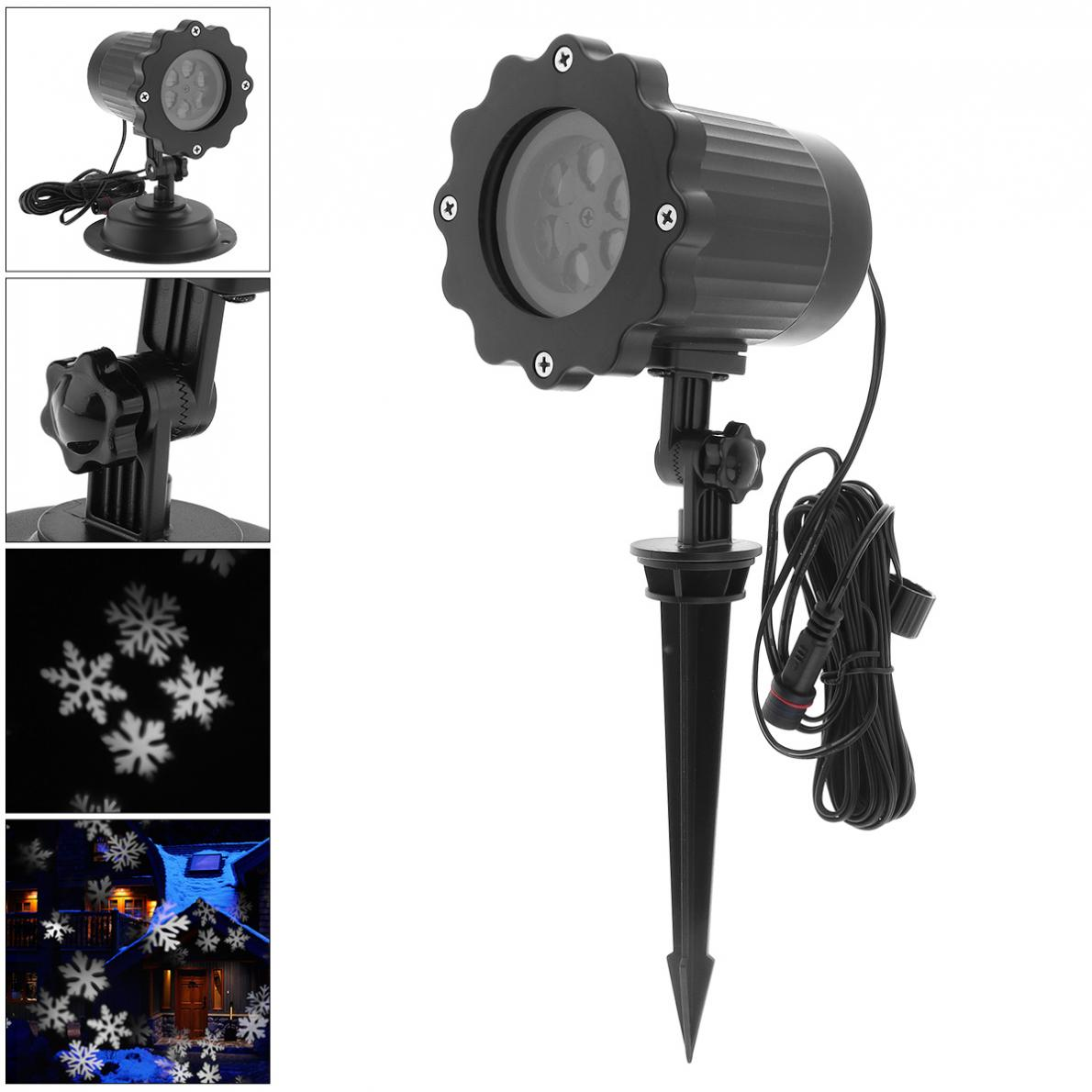 Christmas Laser Snowflake Projector Outdoor LED Waterproof Disco Lights Home Garden Star Light With Stand Indoor Decoration