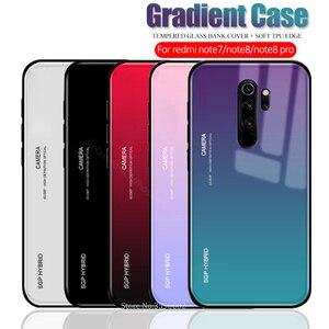 Чехол для телефона с градиентным закаленным стеклом для Xiaomi Redmi Note 8 Pro Xiomi Red mi note 7 Note 8 8pro note 8pro, защитный чехол