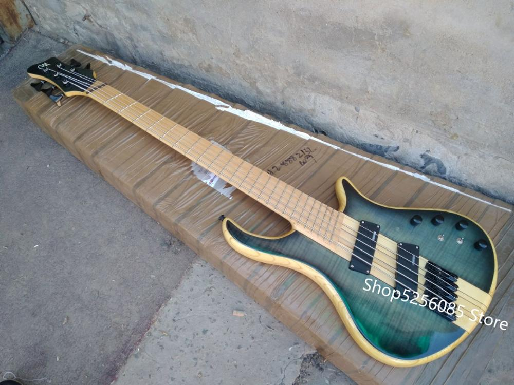 Free Shipping Top Quality 5 String Multi Scale Electric Guitarra Bass Fanned Frets Electric Bass Guitar