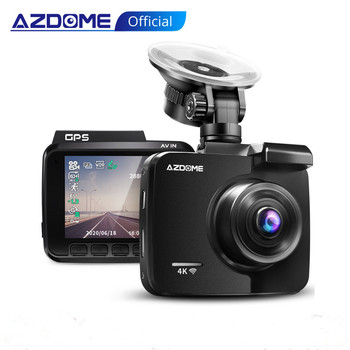 AZDOME 2160P GS63H Car DVR GPS 4K WIFI Dash Camera Dual Lens 1080P Rear View Camera Super Night Vision Dashcam 24H Parking Mode image