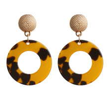 Za Gold Leapord Dangle Earrings For Women Girls ZA New Round Brincos Irregular Earring 2019 Gold Fashion Bohemian Jewelry