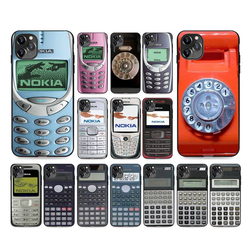 Classical Noki Calculator Model Design Phone Case For iphone 12 7 8 Plus X XS Max XR Coque Case For iphone 5s SE 2020 6 6s 11Pro