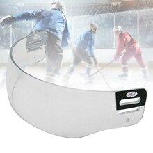 Устойчивый к царапинам Замена Прозрачный ветрозащитный шлем козырек Универсальный прозрачное видение защита глаз хоккейные аксессуары