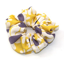 1Pcs Floral Scrunchie Women Girls Elastic Hair Rubber Bands Accessories Gum For Women Chiffon Tie Hair Ring Rope Ponytail Holder(China)