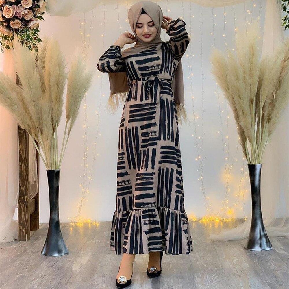 Eid Mubarak Muslim Fashion Dubai Abaya Turkish Hijab Summer Dress Islamic Clothing Women Robe Femme Ete Vestidos 2