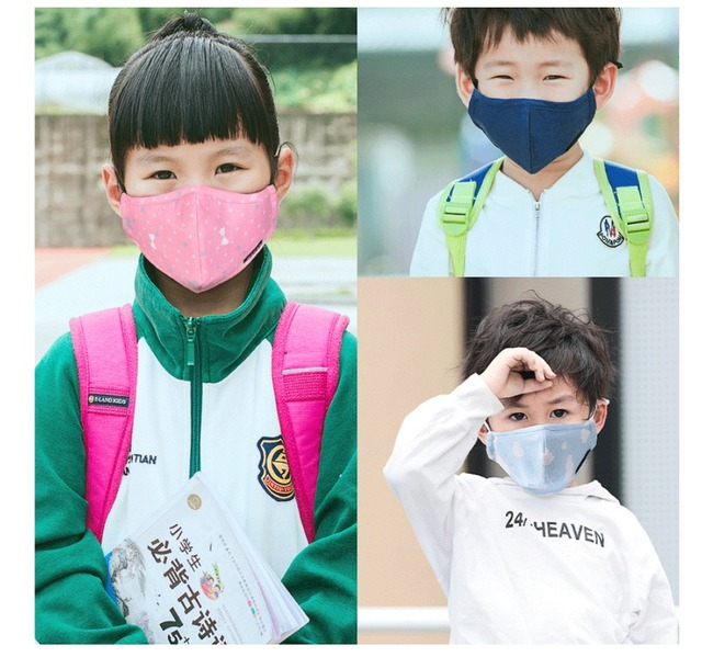 Kids Mask PM2.5 Washable Pure Cotton Children Face Mask Kids Anti Haze Dust Mask Nose Filter Face Muffle Bacteria Flu Respirator 5