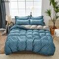 Домашний текстиль  серо-синий Семейный комплект постельного белья из 3-4 предметов для взрослых  роскошная Удобная постельное белье  пододея...