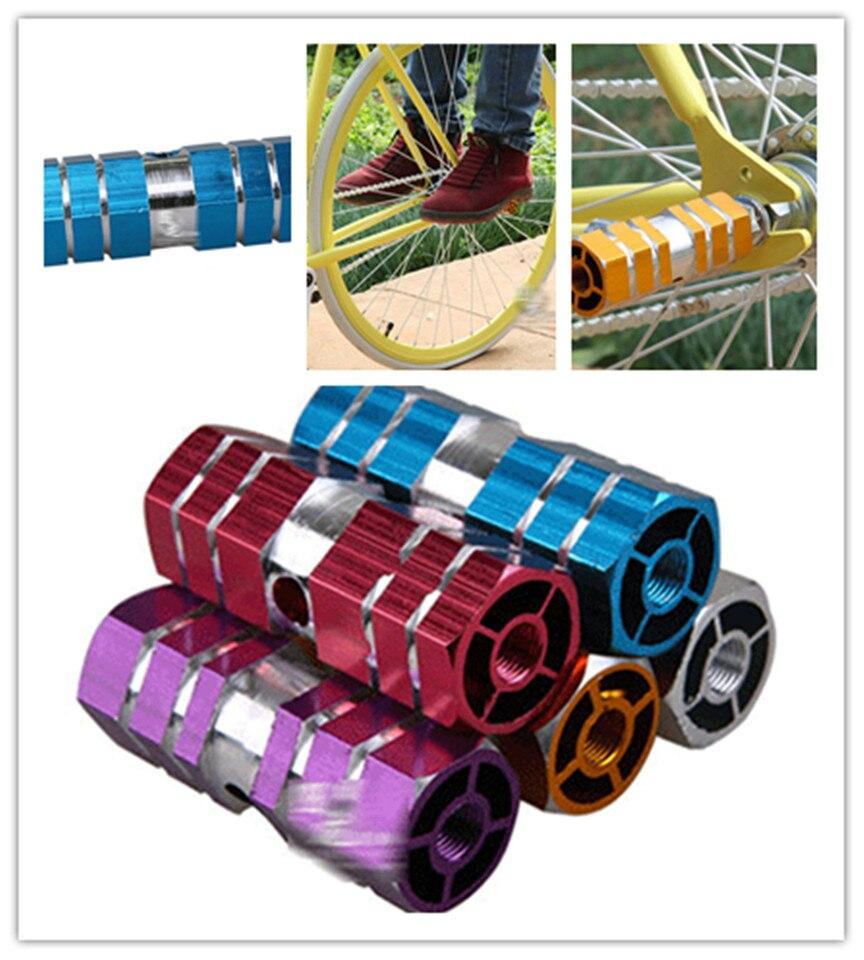 NE/_ IG/_ 1 Pc Cycling Bike Bicycle Cylinder Aluminum Alloy Axle Foot Peg Balance