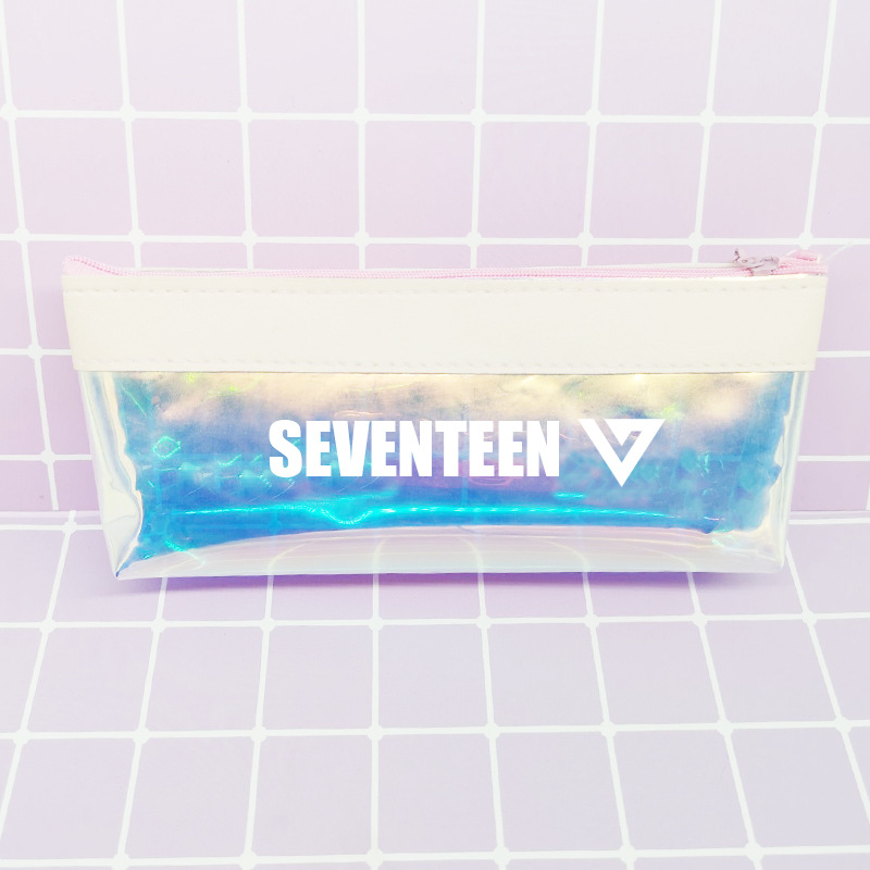 Twice Seventeen Txt Celebrity Style Laser Pencil Case Stationery Bag Related Products