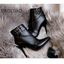 Women Winter Shoes 2019 Womens Ankle Boots Casual Vintage Boots Fashion Supper High Heels Boot