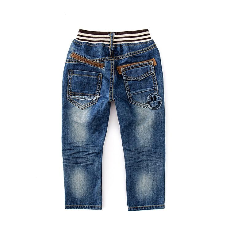 Novo menino do bebê primavera e outono lazer buraco lavado calças jeans moda ao ar livre crianças roupas