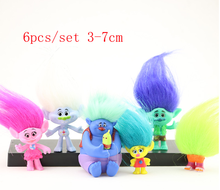 Branch Critter Skitter 6/6/12 pcs/set Trolls Action Figure Toys Magic Fairy Wizard Room Cake Decoration Children Gift toys 6pcs lot trolls poppy branch biggie action figure toys cartoon moive brinquedos dreamworks trolls hug time poppy figure doll toy