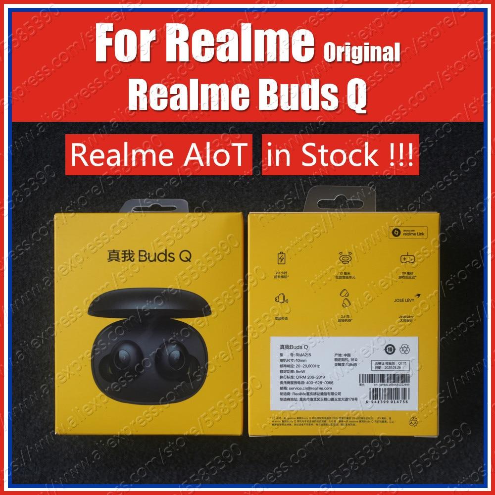 RMA215 Original Realme Buds Q tws Earbuds Wireless Bluetooth Earphones 3.6g IPX4 AloT PRODUCT