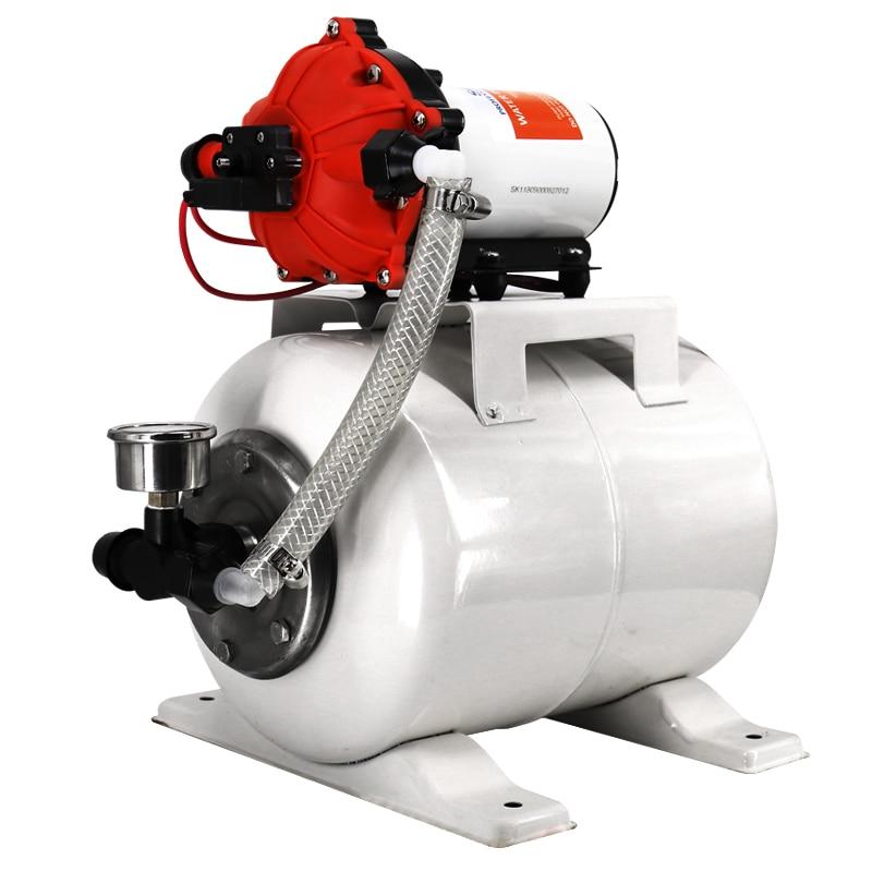8L бак давления подачи воды из нержавеющей стали большой поток мембранный насос для RV yacht Электрический усилитель стабильная система