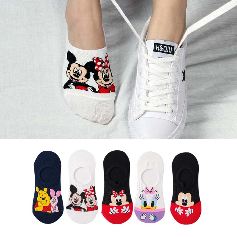 5Pairs/Lot Summer Korea Socks Women Cartoon Cat Fox Mouse Socks Cute Animal Funny Ankle Socks Cotton Invisible Socks Dropship