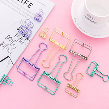 1Piece Colour Metal Clips folder Binder clip Exquisite Ticket clip Food packaging Stationery school office Supply