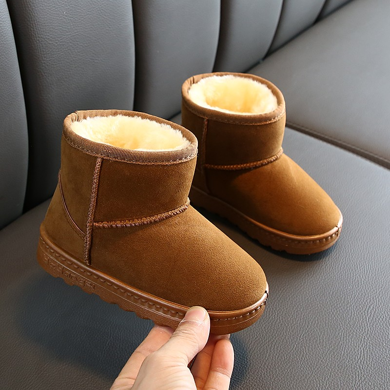 2019 New Winter For Child Kid Girl Boy Snow Boots Comfort Thick Antislip Short Boots Fashion Cotton-padded Shoes