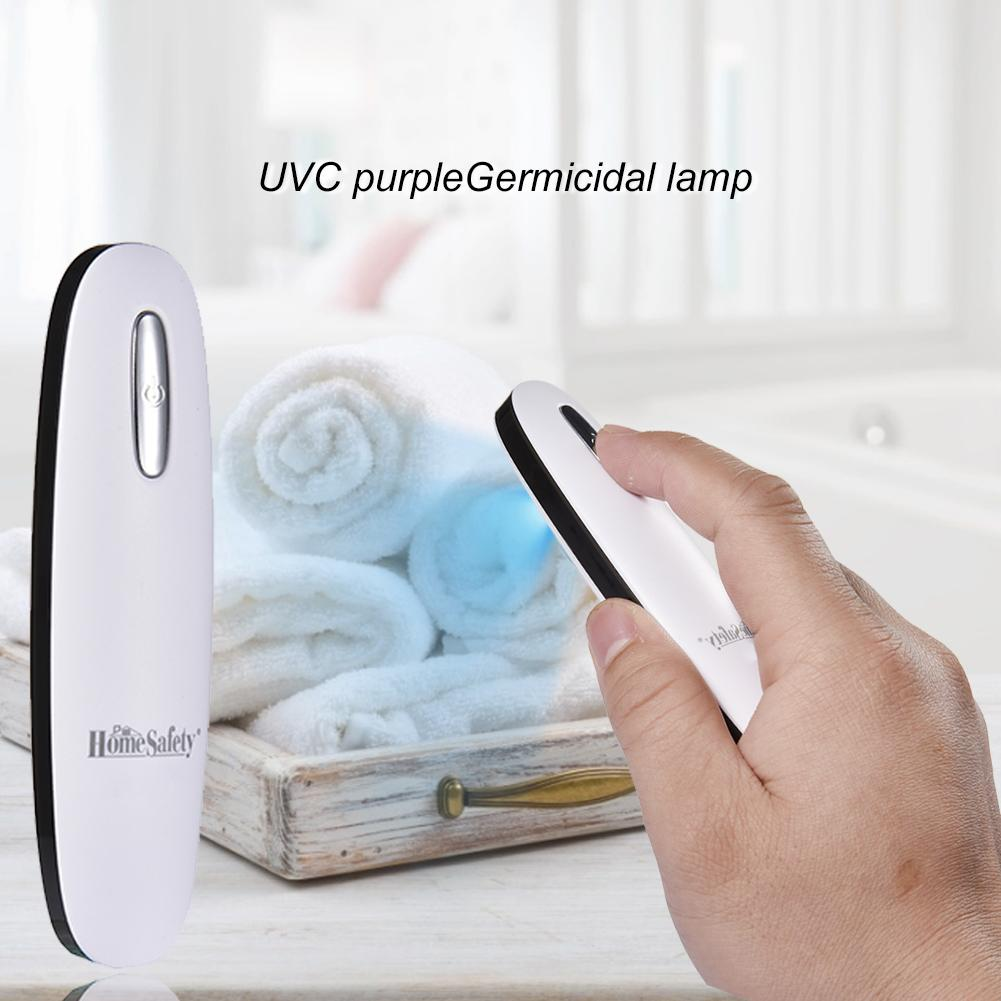 Portable UV Disinfection Lamp UVC Purple Light Portable USB Rechargeable Sterilization Lamp For Indoor Outdoor Use