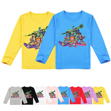 T-Shirt Kids Splatoon Long-Sleeve Teenager Toddler Boys Tops Baby Tees Girls Fashion