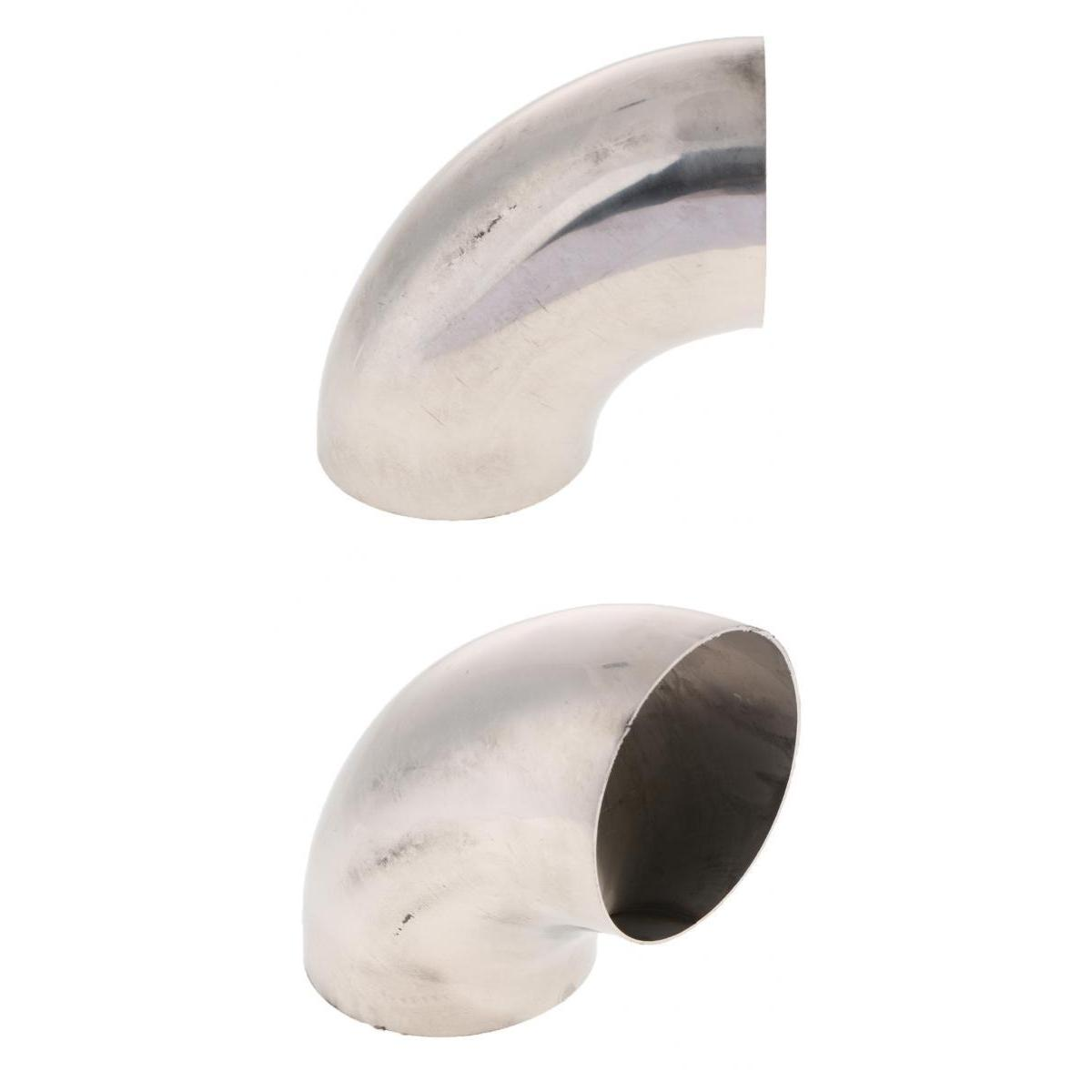 Perfeclan Stainless Steel Mandrel Exhaust Bends Tube Elbows 90 Degree 76MM+63MM OD 2.5+3 Inch