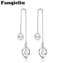 Женские длинные серьги fanqieliu подвески из стерлингового серебра