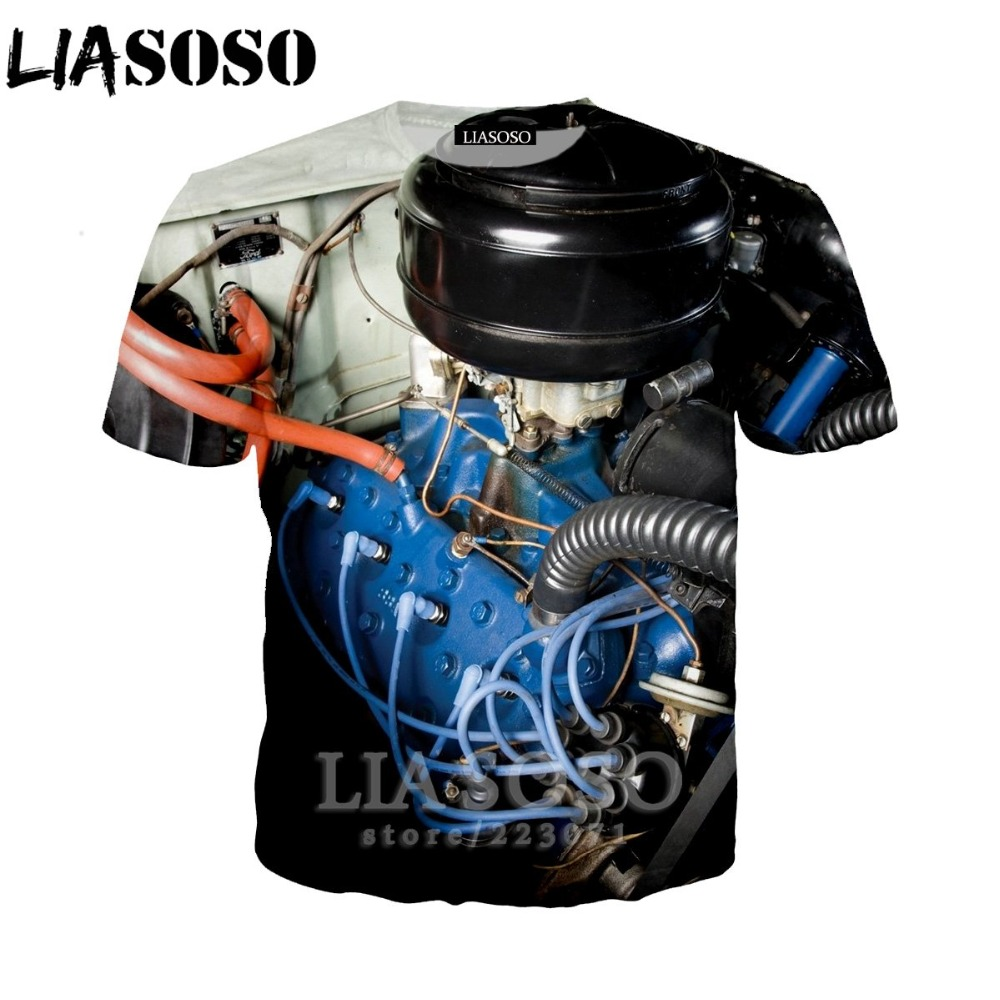 LIASOSO Women Sweatshirt 3D Print Engine T Shirt Car Parts Men`s T-shirts Machinery Men Cartoon Tshirt Harajuku Beach Tees D013-2 (9)