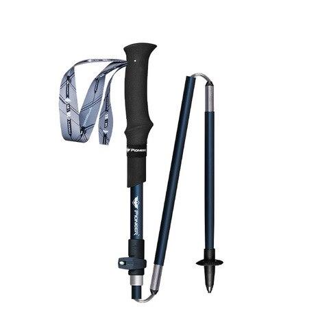 bengala 5 secao muletas dobrar 105 125cm ajustavel externo bloqueio montanha muleta escalada ao ar