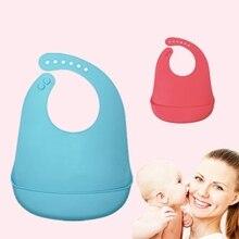 Силиконовые непромокаемые детские нагрудники Burp Cloths Малыш Дети малыш Регулируемый Wipeable передник для кормления цветной платок-слюнявчик 4 цвета