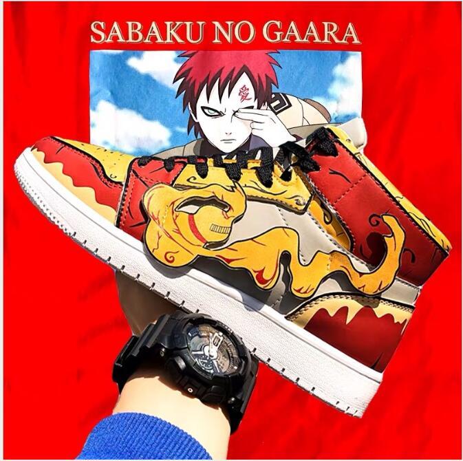 Anime Naruto Canvas Shoes Sasuke Men Vulcanized Shoes Kakashi Sneakers Gaara  Madara Pain Cosplay School  Outdoor Travel Shoes