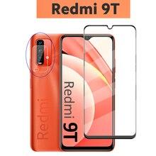 Película Redmi 9T completa protetor pelicula xiaomi redmi note 9 pro 9t 5G 9C 9A câmera filme + armadura pelicula Redmi-9T