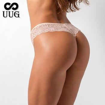 UUG woman Panties for Female Girls Ladies Floral Pantys Underpants Cotton Thong Panties Sexy G