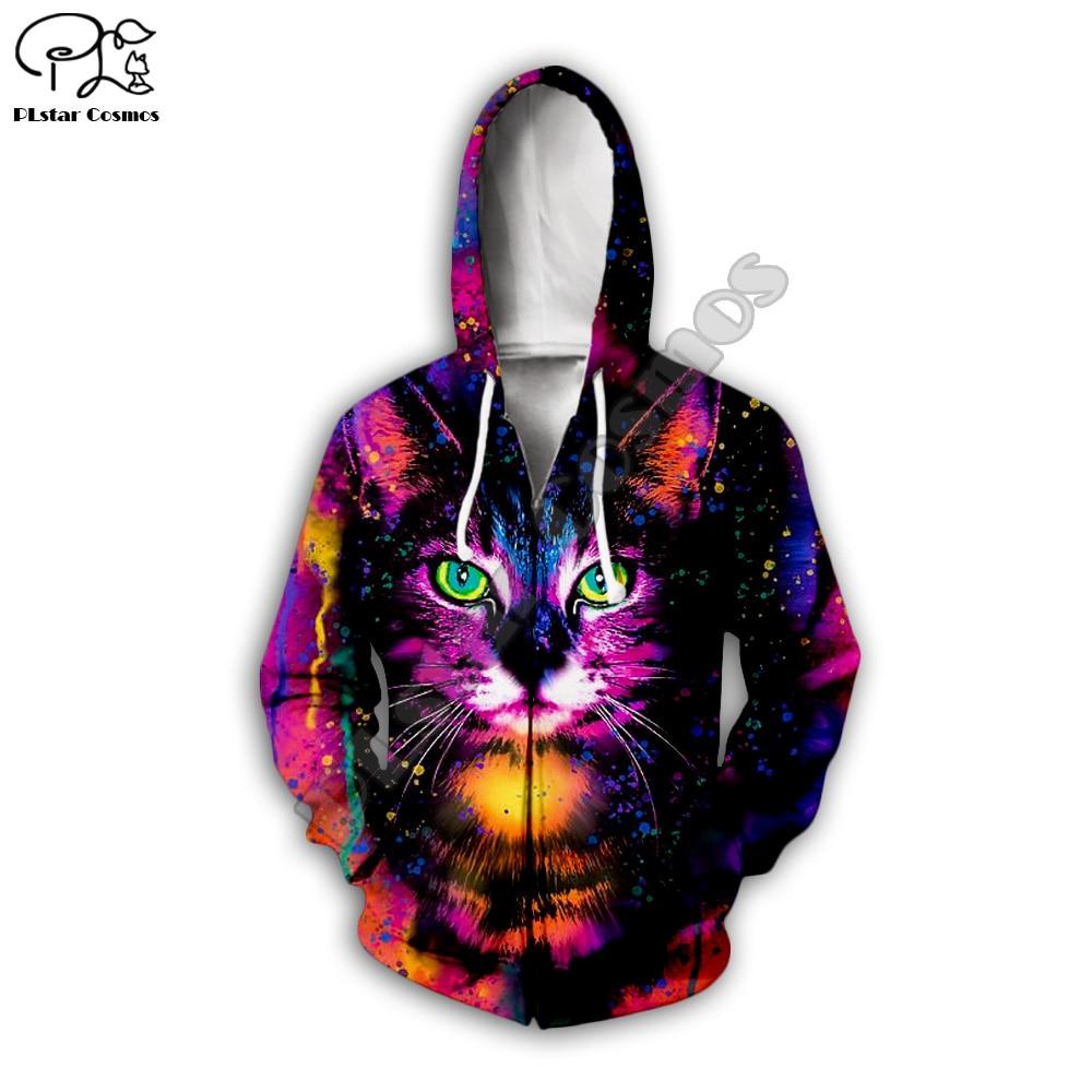 Galaxy cat art print Men 3d Hoodies Halloween Christmas Cosplay Sweatshirt tshirt zipper casual pullover women unisex Tracksuit in Hoodies amp Sweatshirts from Men 39 s Clothing