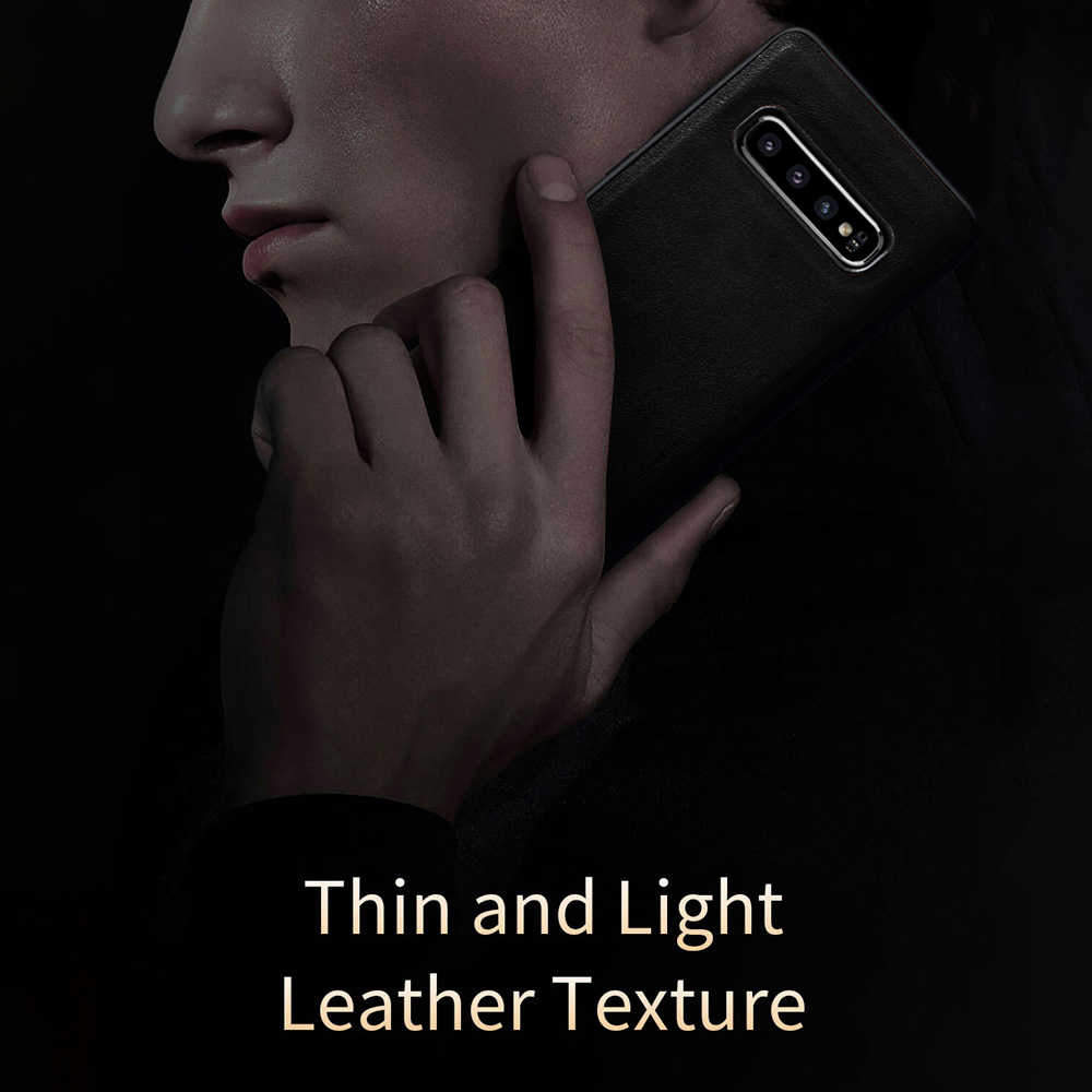LLZ. COQUE Shackproof Couro Premium Ultra Slim Fina Capa Case for Samsung Galaxy S10e S9 S10 Plus Nota Fundas 9 Covers capas