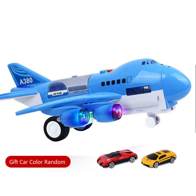New Plane Kids Airliner Toy CarMusic Story Simulation Track Inertia Children's Toy Aircraft Large Size Passenger Free Gift Map 1