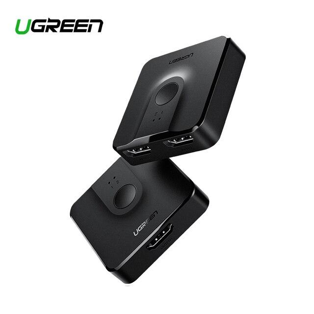 Ugreen HDMI Splitter Schalter Bi Richtung 4K HDMI Switcher 1x 2/2x1 Adapter 2 in 1 heraus Konverter für PS4/3 TV Box HDMI Splitter