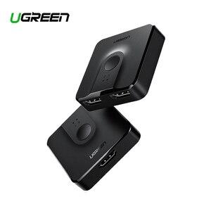 Image 1 - Ugreen HDMI dağıtıcı anahtarı çift yönlü 4K HDMI Switcher 1x 2/2x1 adaptörü 2 in 1 out dönüştürücü PS4/3 TV kutusu HDMI dağıtıcı