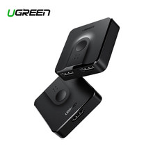 Ugreen HDMI Splitter Switch Bi-Direction 4K HDMI Switcher 1x2/2x1 Adapter 2 in 1 out Converter for PS4/3 TV Box HDMI Splitter(China)