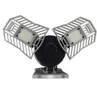 Foldable E27 LED Lamp 60W 110V 220V Led Deformable Bulb Lamp 144LEDs Super Bright Warehouse Industrial Garage Basement Lampada