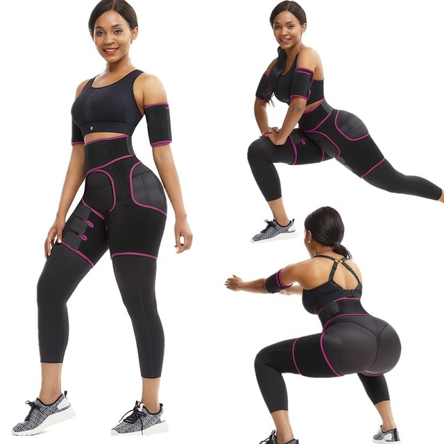 WAIST SECRET Slim Thigh Trimmer Leg Shapers Slender Slimming Belt Neoprene Sweat Shapewear Toned Muscles Band Thigh Slimmer Wrap 4