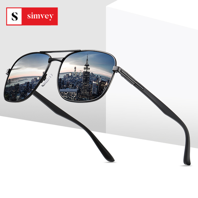 2020 Classic Square Polarized Sunglasses Vintage Men Designer Big Sunglasses Night Driving Sun Glasses UV400 Protection 1